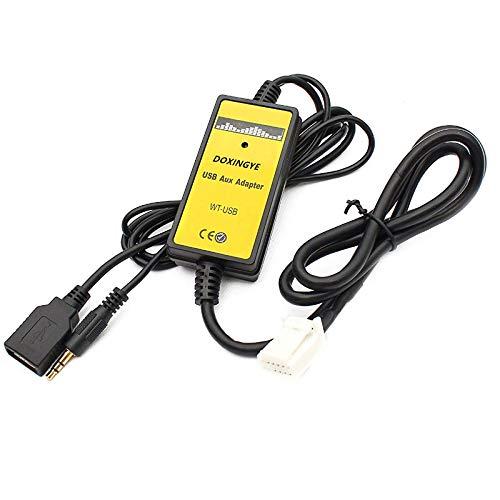 Semoic 6 + 6Pin Cambiador De CD De Interfaz De Mp3 USB De Radio De Coche Digital Adaptador con Entrada Auxiliar De 3,5 Mm para Toyota Lexus Corolla Series
