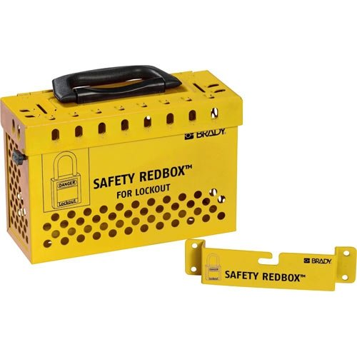 Brady 145580 Group Lockout Box Yellow of Color 3 pcs Pack San Diego Mall Complete Free Shipping