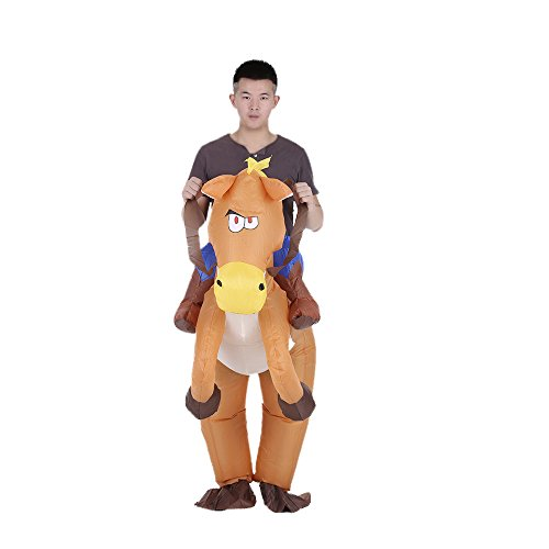 Anself Deguisement Gonflable Costume Dinosaure Gonflable Adulte Halloween Outfit T-Rex Déguisement Gonflable Animaux (1.65-1.8 m, type 2)
