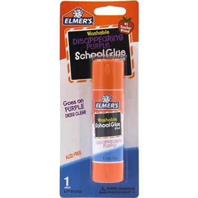 Elmer's Disappearing Purple School Glue Stick, 0.77 oz, Single Stick (E523)