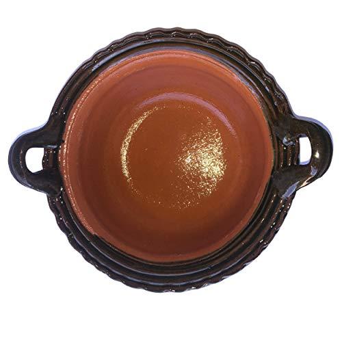 Cocina mexicana Cazuela de Barro | Olla de barro | Cuenco de arcilla 24 cm