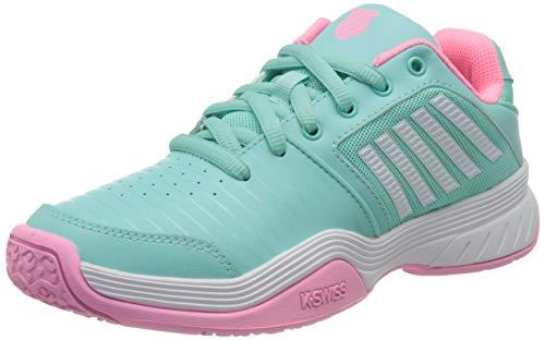 Dunlop Herren KS TFW Court Express Omni-Aruba Blue/PINK/White-M Sneaker, 37.5 EU