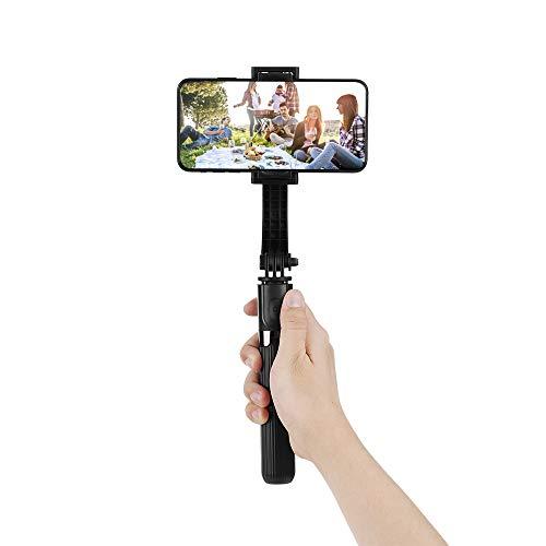 Btuty L08 Gimbal Estabilizador Selfie Vara Tripé BT4.0 Liga de Alumínio Sem Fio Dobrável Selfie Vara Tripé Compatible with Smartphone Preto