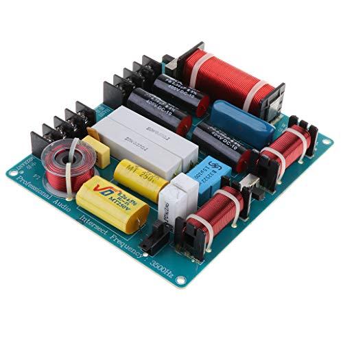 MERIGLARE Módulo Divisor de Frecuencia Altavoz Cruzado de Audio Alto Y Bajo Filtros de 3 Vías