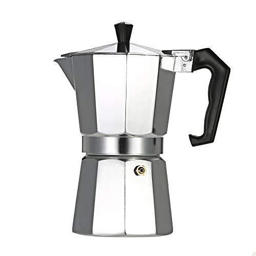 pedkit - Cafetera Espresso de Aluminio de 3 Tazas, cafetera, Olla de Moca para Usar en Estufa, Estufa de Gas, Horno electrotérmico