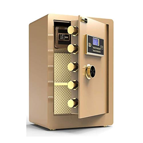 CHUXJ Kabinett Safes Diversion Safes Wandtresore Passwort Safe Home 60cm Büro Sicher Kleine Alarmanlage Tresor (Color : Gold, Size : 38 * 33 * 60cm)
