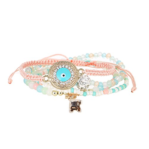 domybest Fashion Casual MULTILAYER Candy Farbe Perlen Armband dehnbar Armreif