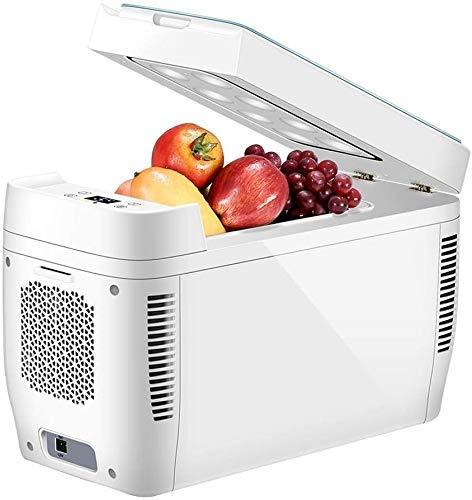 FGDSA Mini Refrigerador Portátil Compacto De 11 litros para Dormitorio, Oficina, Dormitorio, Coche, Ideal para El Cuidado De La Piel Y Cosméticos (240 V / 12 V)