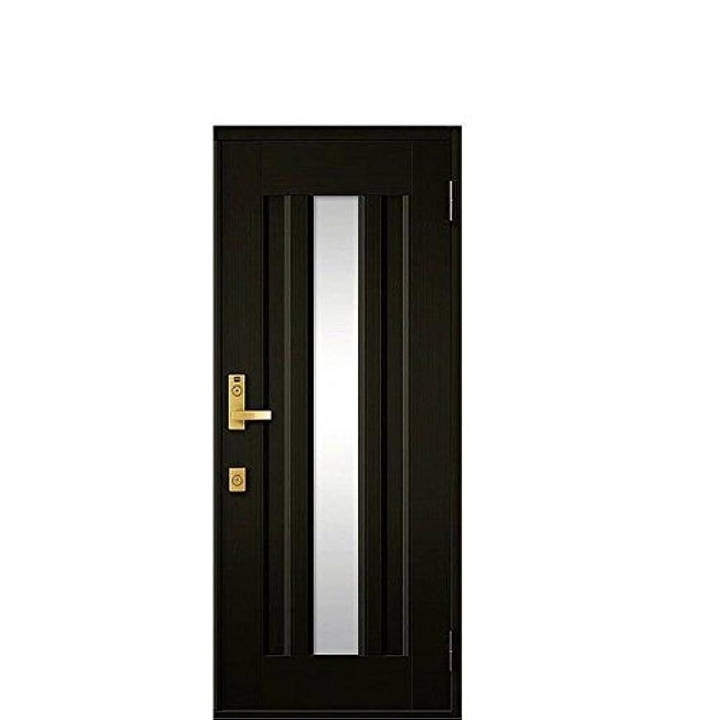 くるくるシステム胸玄関ドア リクシル クリエラR ランマなし 片開きドア 16型 内付型 幅790mm×高1906mm 本体色:オータムブラウン 勝手:左勝手 レバーハンドル(ゴールド)