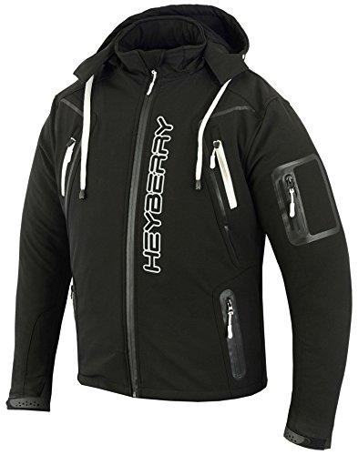 HEYBERRY Soft Shell Motorradjacke Textil Schwarz/Weiß Gr. L