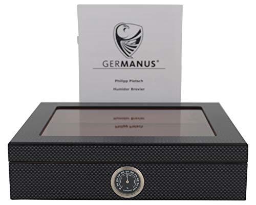 GERMANUS Humidor Mensalla für 30 Zigarren, Carbon