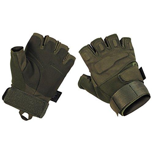 MFH Protect Fingerless Gloves OD Green size XXL