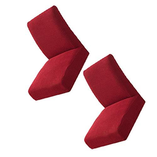 Gazechimp Cubiertas para Sillas de Comedor de Spandex, Fundas para Sillas de Comedor Extraíbles Elásticas 2pcs