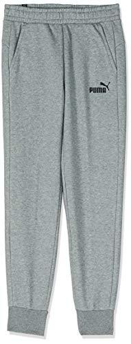 PUMA Herren ESS Logo Pants FL Cl Hose, Medium Gray Heather, S