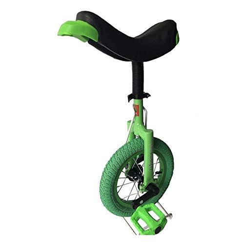 AHAI YU Niños/niñas/niñas más pequeños 12'Unicycles, ChiDerny cuya Altura 70-115cm / 27.6-45.3 Pulgada, Inicio de saldo Exterior Uni-Ciclo, cómodo Asiento de Montar (Color : Green)