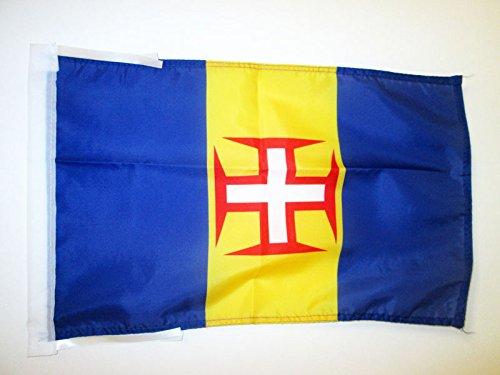 AZ FLAG Flagge Madeira 45x30cm mit Kordel - Madeira Fahne 30 x 45 cm - flaggen Top Qualität