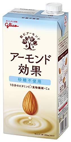 グリコ アーモンド効果 砂糖不使用 1000ml×6本 常温保存可能