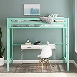 Preedip Twin Metal Loft Bed in Mint Color+