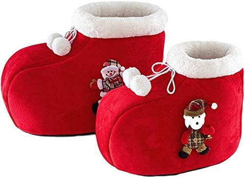 EREW Cama para Mascotas, Casa de Gato de la Navidad, Perro de Gato de Mascotas Cama Caliente, Ciervos de Navidad Nest Cojín Suave, con Forma de Bota de Nav.