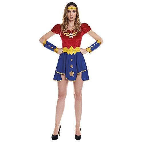 Disfraz Superheroína Wonder Girl Mujer【Tallas Adulto S a L】[Talla S] | Disfraces Mujer Superhéroes Carnaval Halloween Regalos Chicas Cosplay Cómics