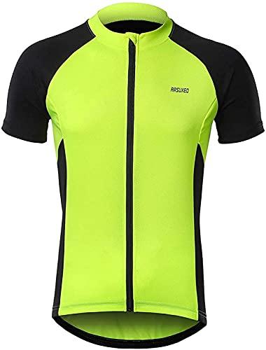 ZYXFYY Ciclismo Jerseys Hombres Ciclismo Camisetas Bicicletas Ropa Bicicletas Camisa Básica Manga Larga Cremallera Bolsillos reflectantes