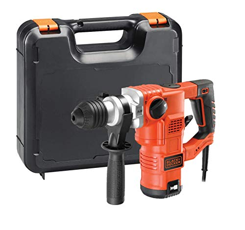 BLACK+DECKER KD1250K-QS Martello demolitore e scalpellatore 1250W-3.5J con accessori in valigetta