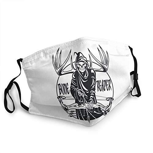 Calavera con Casco y Gafas Las máscaras Masculinas y Femeninas Son Transpirables a Prueba de Polvo Lavables Reutilizables para Ciclismo al Aire Libre Acampada esquí Viaje de 7.9x5.9 Pulgadas