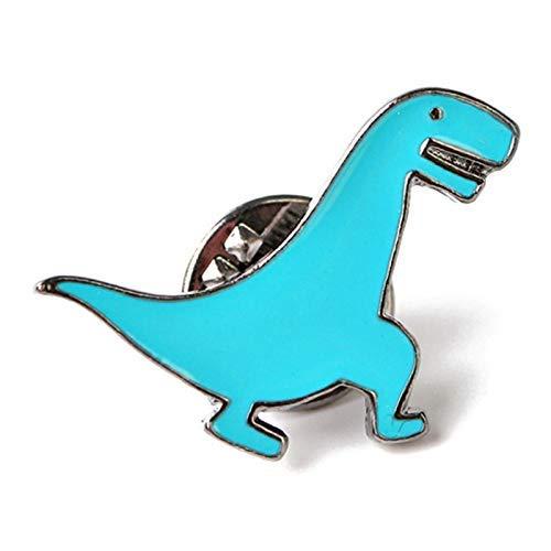 N / A Nigoz - Broche de dinosaurio con botones para hacer manualidades, chaqueta vaquera, mochila, insignia de regalo para niños y niños, color azul, práctico y práctico