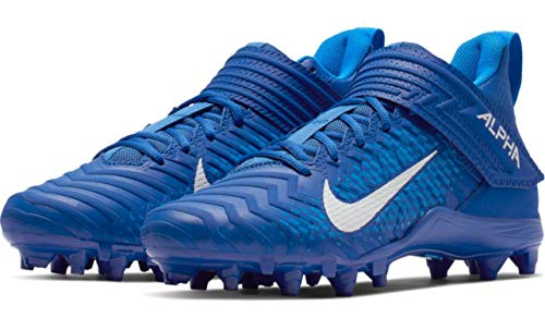 Nike Alpha Menace Varsity 2 Men's Football Cleat AQ8154 (13 D US, Game Royal/White-Photo Blue)