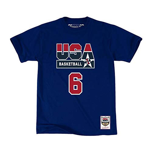 Mitchell & Ness Patrick Ewing #6 1992 Team USA Dream Team Basketball T-Shirt, S