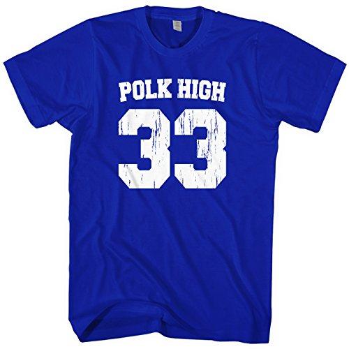 Mixtbrand Men's Polk High Football T-Shirt S Royal