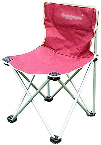 YGCBL Silla de Playa Plegable Silla de Pesca Silla de Camping Silla de jardín Silla de balcón Silla de jardín Silla Plegable portátil, 406 4 CM Rojo (Color : Red, Size : 40 * 64CM)