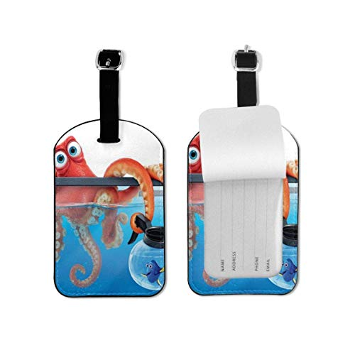 Finding Dory Leather Lage Tags Suitcase Tag with Full Privacy Name ID Card Valise Benle Tag