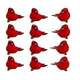 Mokyler 12 clips artificiales para pájaros cardenales rojos,...