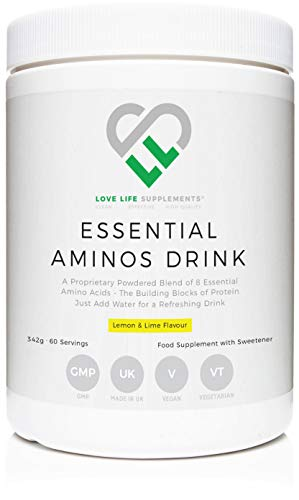 Essential Amino Acid Drink by LLS | Lemon & Lime Flavour | 342g - 60 Servings | Love Life Supplements - 'Clean, Effective, High Quality'
