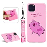 LCHDA For iPhone 11 Pro 5.8' 3D Cartoon Case,iPhone 11 Pro Cute Squishy Cat Animal Print Pattern Kawaii Soft Silicone Protective Back Phone Cover Skin For Teen Girls Boys - Pink Pig