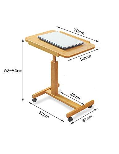 Table de Chevet Mini-Ordinateur Portable Accueil Bureau Ordinateur Portable Pliant en Bambou (Taille : L*W*H:70 * 50*-(62-94) cm)