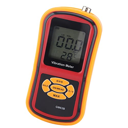 mechanical vibration meters Vibration Meter, GM63B LCD Screen Display Mechanical Vibration Meter Handheld Split Type for Speed for Acceleration for Displacement Measurement