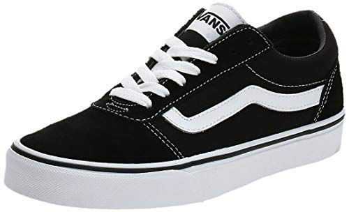 Vans Ward Canvas, Zapatillas Hombre, Negro ((Suede/Canvas) Black/White C4R), 47 EU