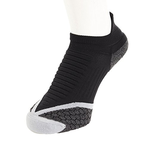 NIKE No Show Socks Elite Running Cushion NST Calcetines, Unisex, Black/Wolf Grey, 12
