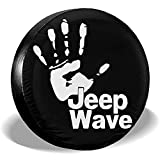 MOTALIN Wave Cubierta de neumático Personalizada Cubierta de neumático de Rueda Ajuste para Jeep Liberty Wrangler SUV Camper Accesorios de Remolque de Viaje 16In