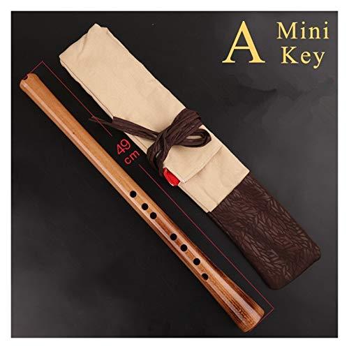 QFWN Professionelle vertikale Flöte 6/8 Löcher Musikinstrumente Flöte Nanxiao Woodwind Instrument Xiao Flöte mit Tasche auch für Anfänger (Color : 8 Holes A Key)