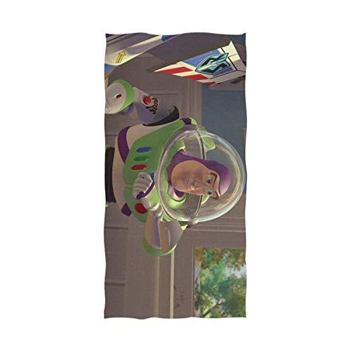 FETEAM Toy Story Buzz Lightyear Toalla de baño Toalla de Playa Uso como Yoga Viajes Camping Gimnasio Toallas de Piscina en Carrito de Playa Sillas de Playa Talla única ~ AQ3
