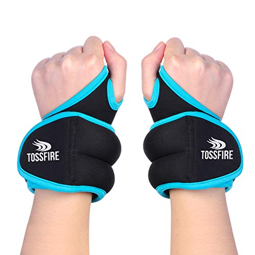 Wrist Weights Set 4lb (2lbs Each) Thumblock Arm Weight for Women and Men, Great for Running Weightlifting Training Gymnastic Aerobic Jogging Cardio Exercises