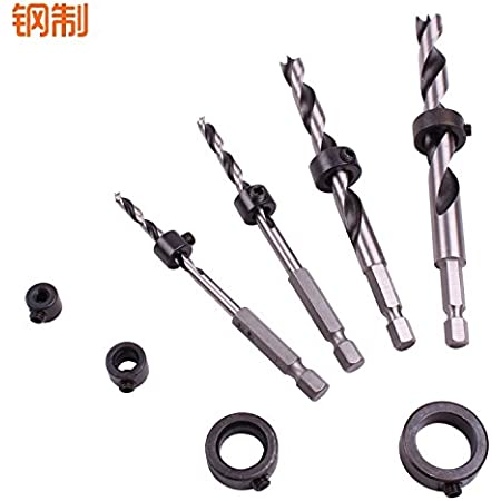 5//16 3//8 1//4 5//16 3//8 1//2 Center Dowel Pins and 8Pcs Drill Stop Set Perfect for 1//8 1//2 Diameter Drill 1//4 Swpeet 23Pcs Dowel and Tenon Center Set with Brad Point Drill Bit Set 3//16