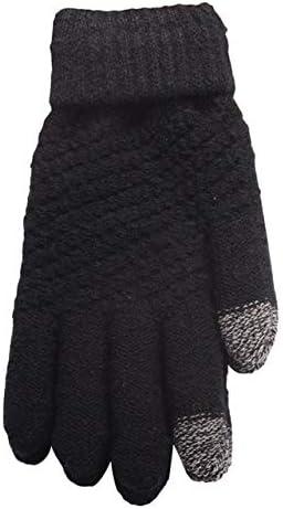Hot Unisex Warm Winter Knitted Full Finger Gloves Mittens Girl Female Faux Cashmere Women's Gloves Touch Screen Men's Gloves T8 - (Color: 1)