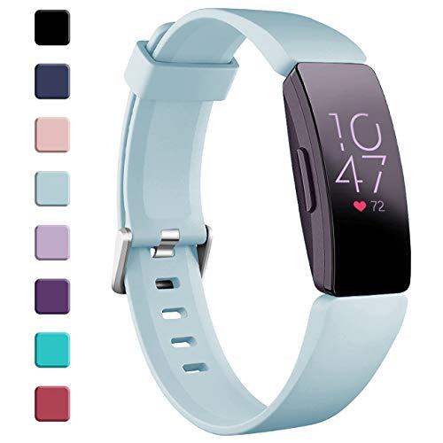 Oielai kompatibel mit Fitbit Inspire HR Armband/Fitbit Inspire Armbands, Wasserdicht Silikon Armband Sanft Sport Ersatzband für Fitbit Inspire/Ace 2/Fitbit Inspire HR, Frauen Männer, Klein Blau Grün