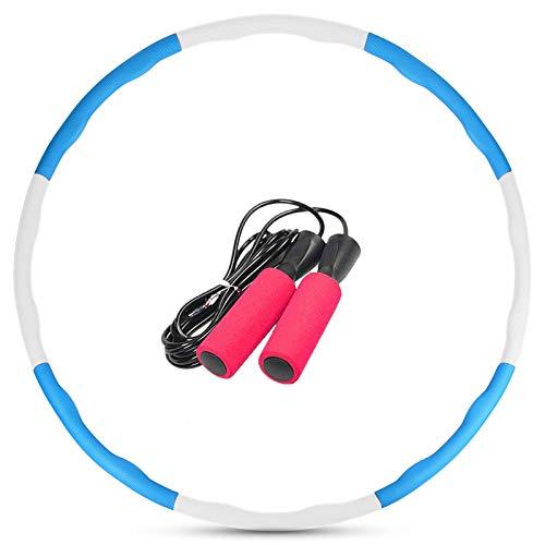 Lixada Aros de Fitness con Cuerda de Saltar 8 Piezas para Adelgazar la Cintura Ejercicio de Pérdida de Peso