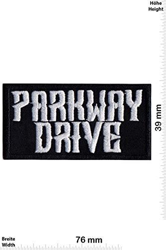 Parkway Drive Silver Black Metalcore Patch Badge bestickt zum Aufbügeln, Souvenir Zubehör