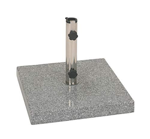 Profiline 40 kg Granit Schirmständer mit Rollen, quadratisch, Edelstahl, 451071